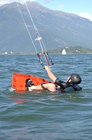 Kite Surfing on Lake Como